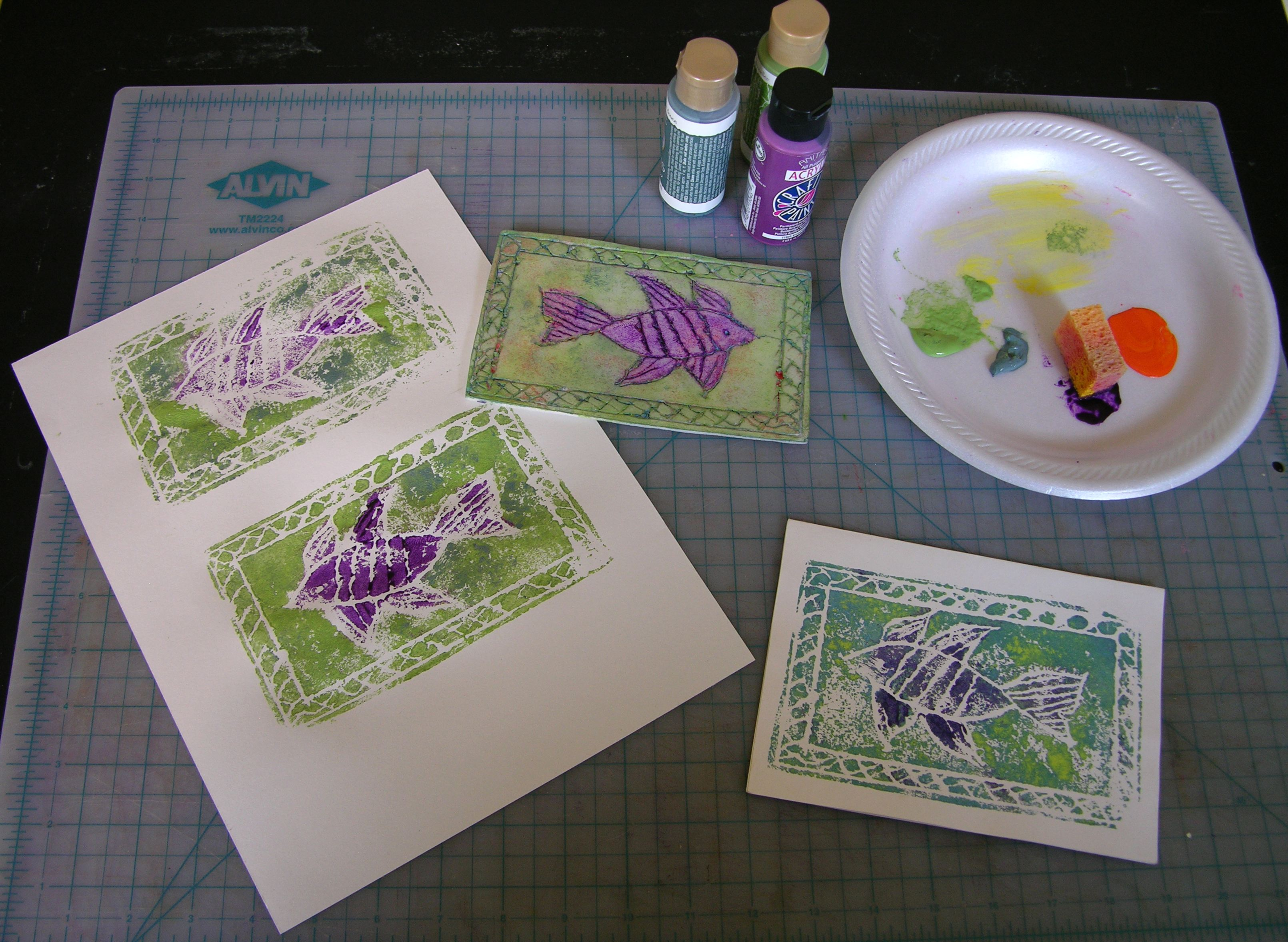 here are some of my trial runs on scrap paper